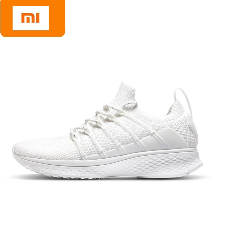 Original Xiaomi Mijia Women Sports Shoes outdoor Mi 2 smart sneakers Elastic Knitting Vamp Smart female Running Shoes xiaomi smart shoes mijia running shoes