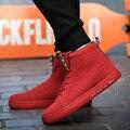 Nueva Moda de Los Hombres High Top Zapatos Ocasionales Con Cordones de Patrick Mohr Tobillo Otoño Invierno Hombres Zapatos Para Adultos Zapatillas Hombre
