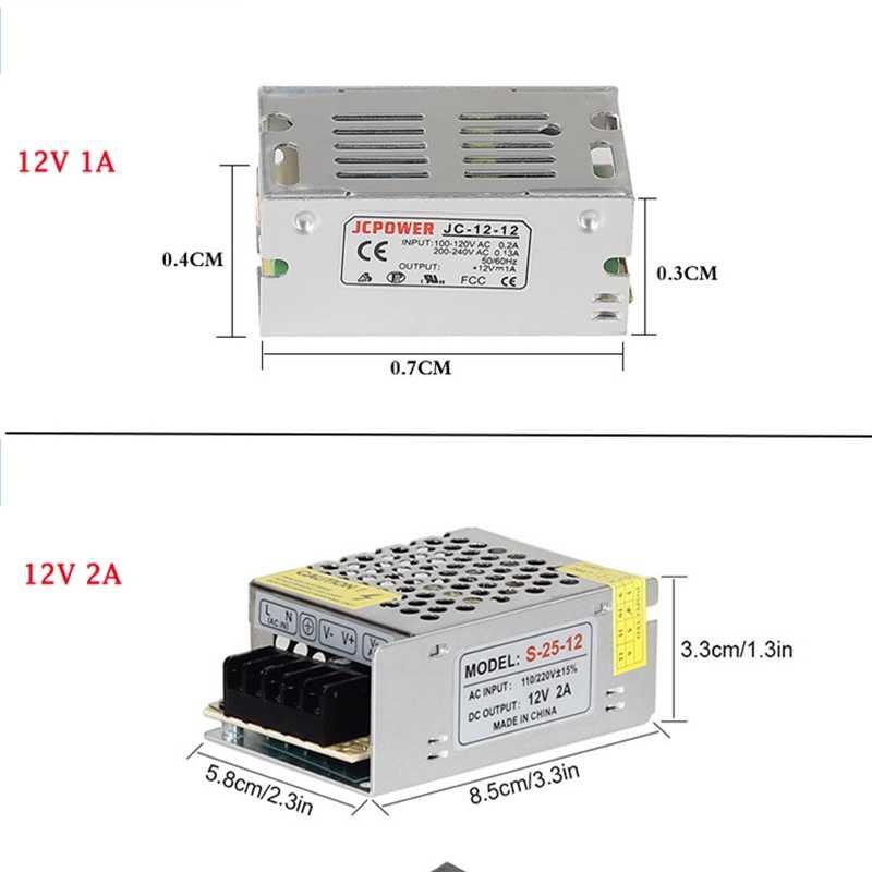 DC12V 2A 3A 5A 8.5A 10A 15A 20A 30A 40A 50A 60A Трансформаторы освещения светодиодный адаптер драйвер для Светодиодные ленты Выключатель света Питание
