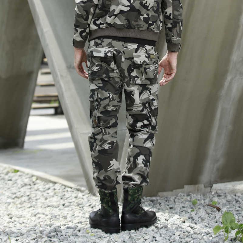 Freearmy السراويل الرجال Sweatpants الشارع الشهير الهيب هوب التعاقد الكورية السراويل للرجال العسكرية التمويه جيب البضائع السراويل الترنك