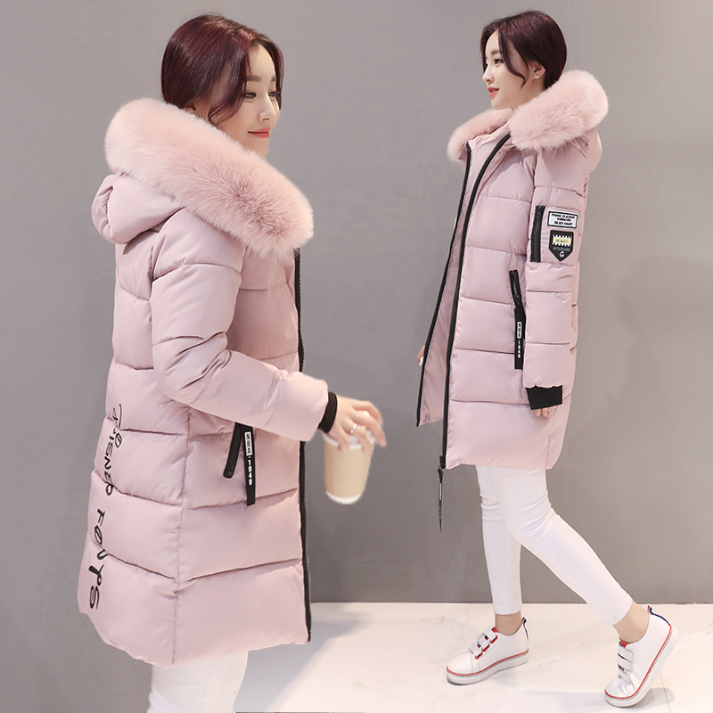 Maternity clothing down jacket cotton clothing in the Korean version of the long paragraph fashion thick hair collar coat 2017 autumn and winter new women in the long paragraph thick cotton jacket 3399