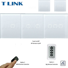 Touch Switch 1 2 3 Gang 1 Way Wireless Remote Control Light Switch LED Indicator For RF433 Smart Home Touch Switch Big Remote