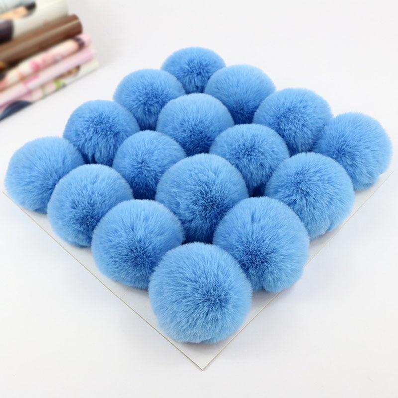 Ornament Fake Fur Ball Clothes Craft Decoration Accessories Decor PomPom 2PCS DIY Practical High quality New Hot