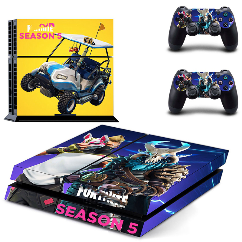 где купить HOMEREALLY Stickers For Fortnite PS4 Skin Classic PVC Sticker Cover For Playstation 4 Console and ps4 controller skin sticker дешево