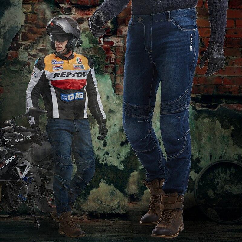 ФОТО Mens Motoboy ATV Jeans M 3XL 4XL kevlar Dark Blue Moto Dirt Bike Off-road  Ktm Pantaloni Motocross pants