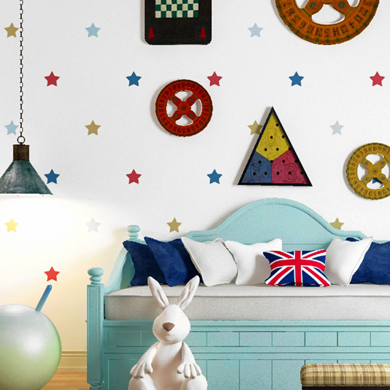 Children's Bedroom Wallpaper 3D Cartoon Color Star Boys And Girls Background Wall Paper Roll Home Decor Non-Woven Wall Coverings 3d modern wallpapers home decor flower wallpaper 3d non woven wall paper roll bird trees wallpaper decorative bedroom wall paper
