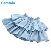 2 7y Summer Girls Denim Skirts Pants Baby Jean Cake Skirt Kids Skirt Children Clothing