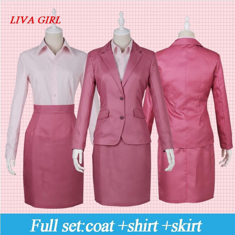 Wotaku ni Koi wa Muzukashii Momose Narumi Women Business Suit Work Wear Coat Shirt Dress Uniform Outfit Anime Cosplay Costumes