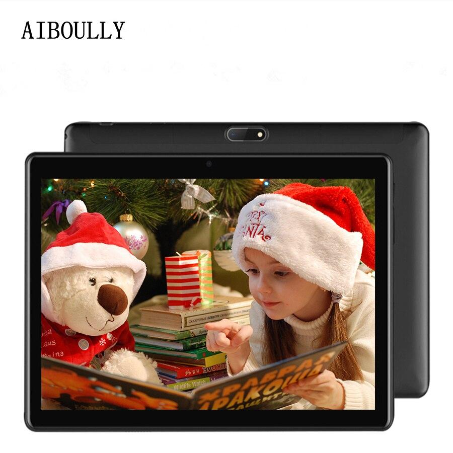 AIBOULLY 2018 nouvelles tablettes Android Original 10.1 pouces 3G téléphone appel tablette PC 7.0 OS Octa Core 4 GB RAM 32 GB ROM 2.5D écran 9.7''
