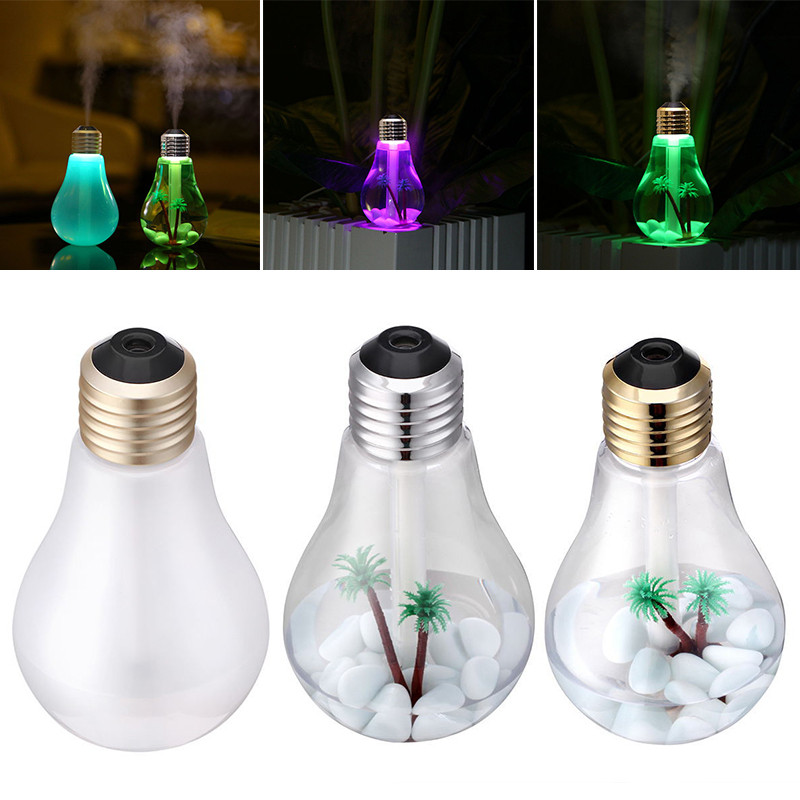 oobest USB Ultrasonic Humidifier Home Office Mini Aroma Diffuser LED Night Light Aromatherapy Mist Maker Creative Bottle bulb fimei usb aroma diffuser led night light humidifier vehicle aromatherapy mist maker creative bottle shape air humidifier home