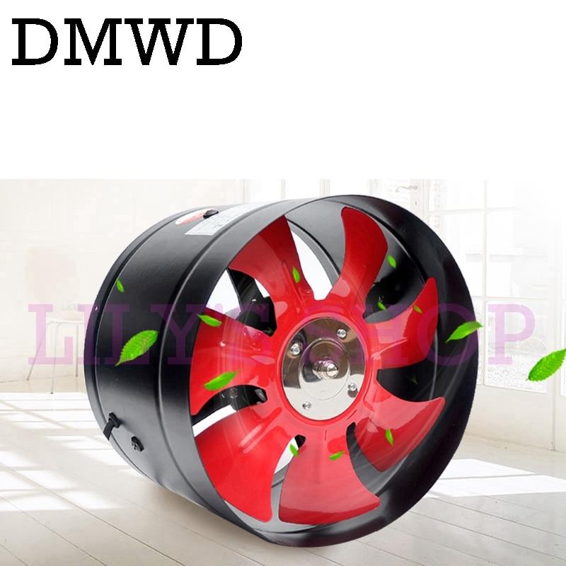 DMWD 10 inch exhaust fan 10 inline booster Toilet ceiling ventilation fans 250mm pipe kitchen mini exhaustfan louver exhauster