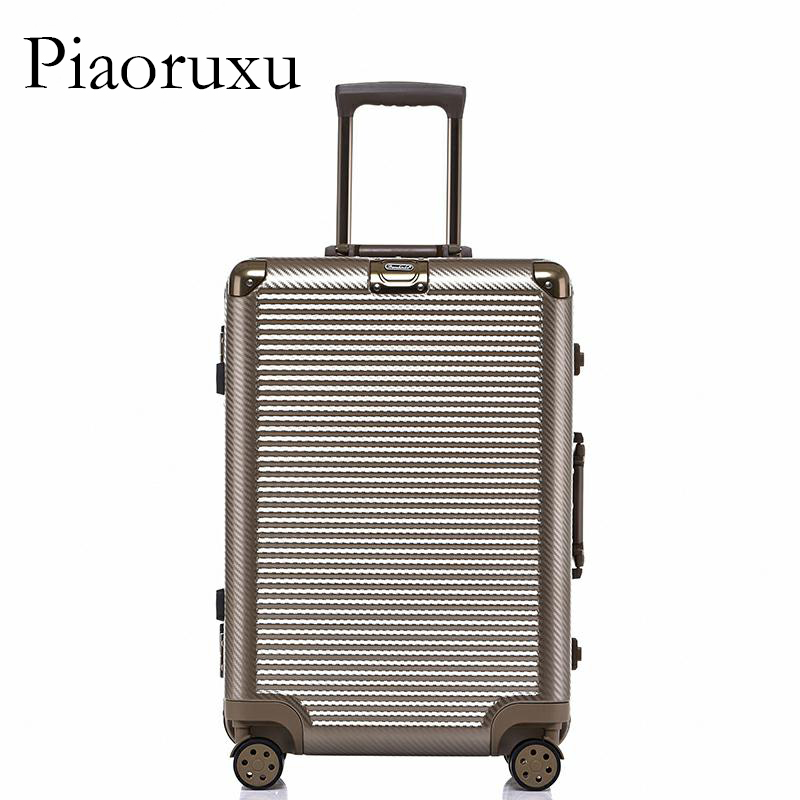 цена на 20 24 26 28 PC VS Aluminum Frame Travel Trolley Luggage Spinner Carry On Cabin Rolling Hardside Luggage Suitcase