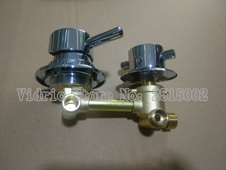 Customized Shower room mixer faucet cold and hot water tap switch, 2/3/4/5 ways screw thread bathroom mixing valve chrome plated blanco alta 512319 tap mixing valve oriental style chrome by blanco