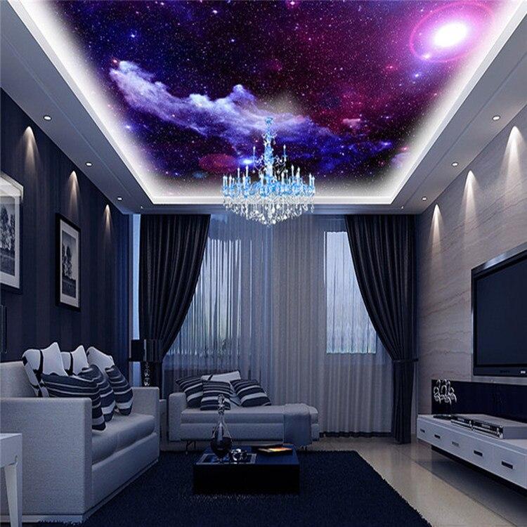 Aliexpress.com : Buy Purple Galaxy Wallpaper Mural Photo Giant ...