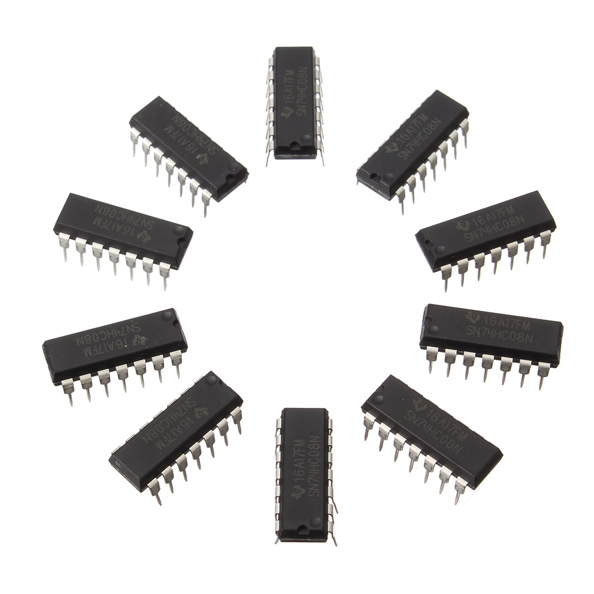 10PCS SN74HC08N DIP14 SN74HC08 DIP 74HC08N 74HC08 IC Integrated Circuits Chips