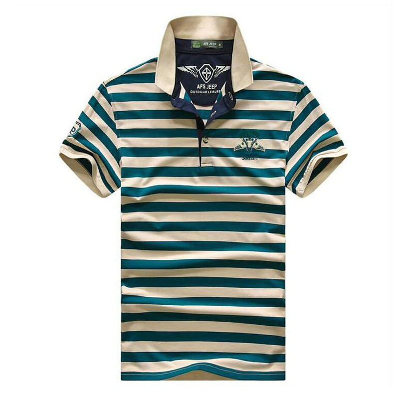 Men's   Polo   shirt 2018 new Summer High Quality Brand Cotton Stripe Men's   Polo   Shirt Business casual solid   polo   shirt men
