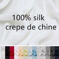 100 Silk CREPE DE CHINE Fabric For Dress DIY Color As Descrition Width 110cm Thickness 12