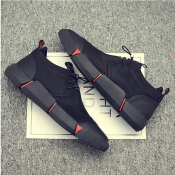 NEW Brand High quality all Black Men's leather casual shoes Fashion Breathable Sneakers fashion flats  big plus size 45 46 LG-11 5