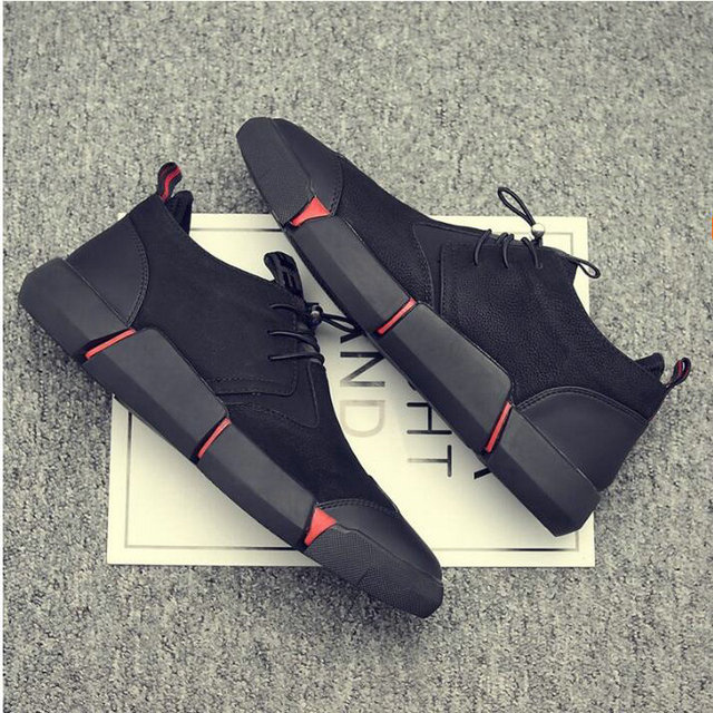 Men's Black Casual Breathable Sneaker