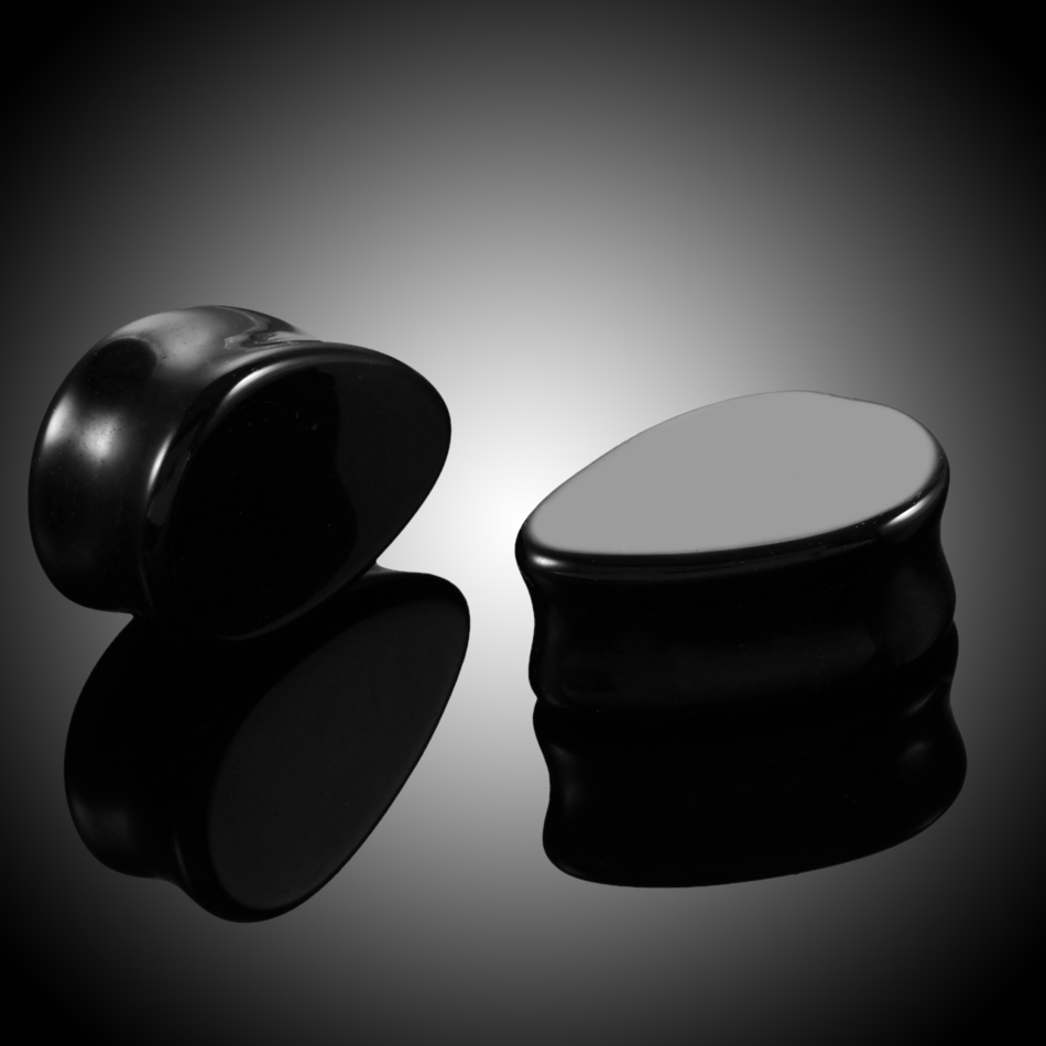 2 pcs Mode Batu Teardrop Ear Plugs Tunnel Piercings Plugs Earring - Perhiasan fashion - Foto 4