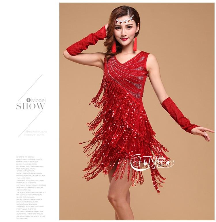 2019 NEW Latin Fringe Dress Women Latin Dance Dress Club Dress Party ... 37f50981f238