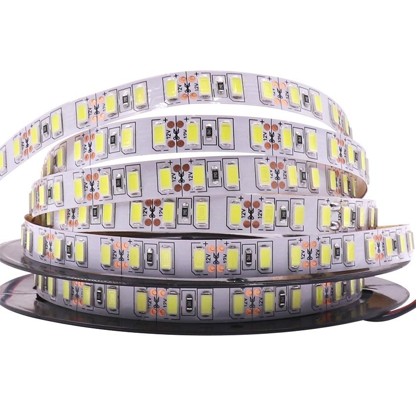 Super Bright 120leds/m SMD 5730 led strip 5630 Flexible light 5M 600 LED tape DC 12V non waterproof Led Ribbon Christmas lamp jrled 144w 10000lm 3500k 600 5730 smd led warm white light strips 2 pcs 5m dc 12v
