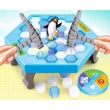 New Original Box Ice Breaking Save The Penguin Family Fun Game - The One Who Make The Penguin Fall Off , The Will Lose This Game(China)