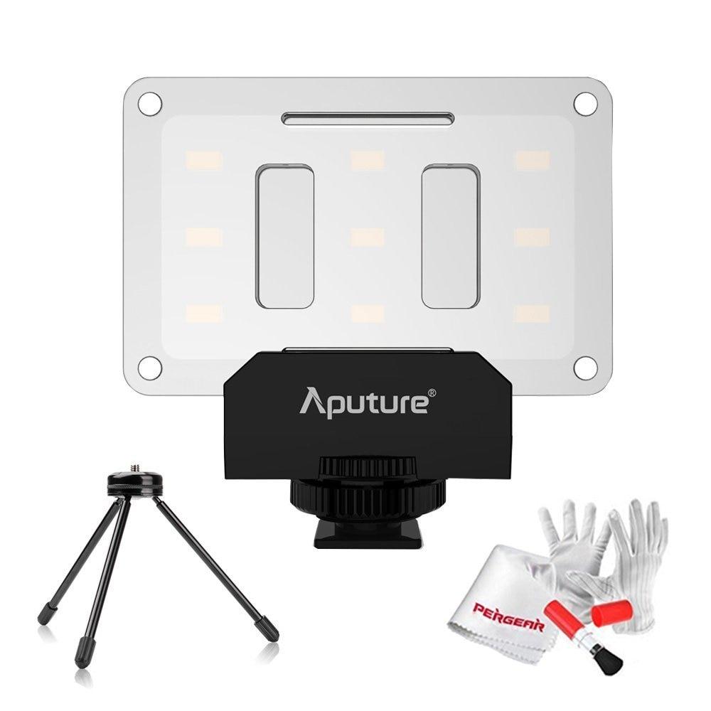 Aputure Amaran AL-M9 CRI95+ Mini LED Video Light On-Camera Fill Light with Mini Tripod Light Stand and Pergear Cleaning Kit цена