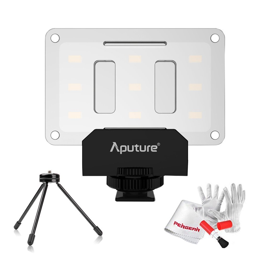 Aputure Amaran AL-M9 CRI95 + светодиодный мини светодиодный видео свет на камеру заполняющий свет с мини-штативом осветительный стенд и Pergear чистящий ко...