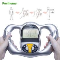 Povihome Monitor Digital LCD Fat Analyzer BMI Meter Weight Loss Tester Calorie Calculator Measurement Health Care