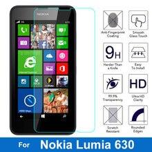 96eded85a06 0,26mm 2.5D ultra Premium de templado de vidrio de película para Nokia  Lumia 630, 635, 636, 638 Dual Sim N630 Protector de panta.
