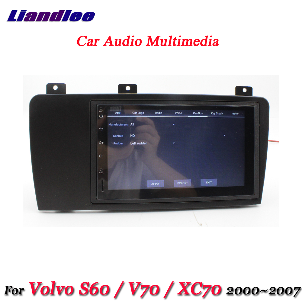 US $346 5 23% OFF|Liandlee Car Android System For Volvo S60 V70 XC70  2000~2007 Radio Frame GPS Navi MAP Navigation Screen Multimedia No DVD  Player-in