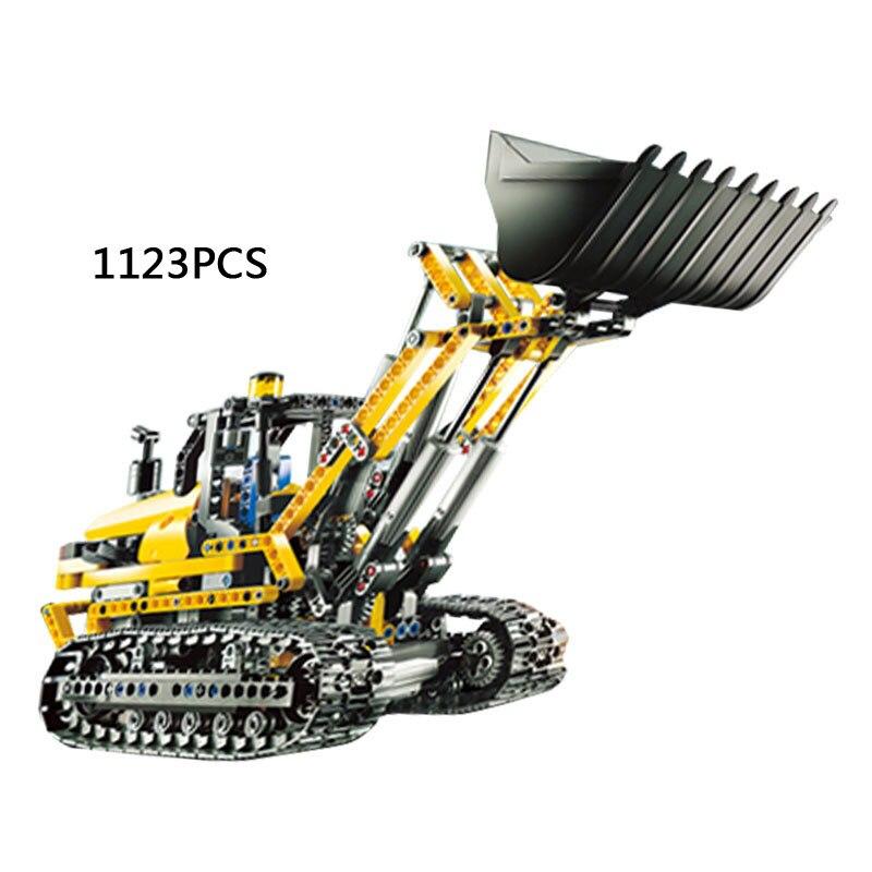 2018 nya Technic serie R / C Motoriserad grävmaskin byggsten monteringsmodell kompatibel 8043 leksaker för barn gåva
