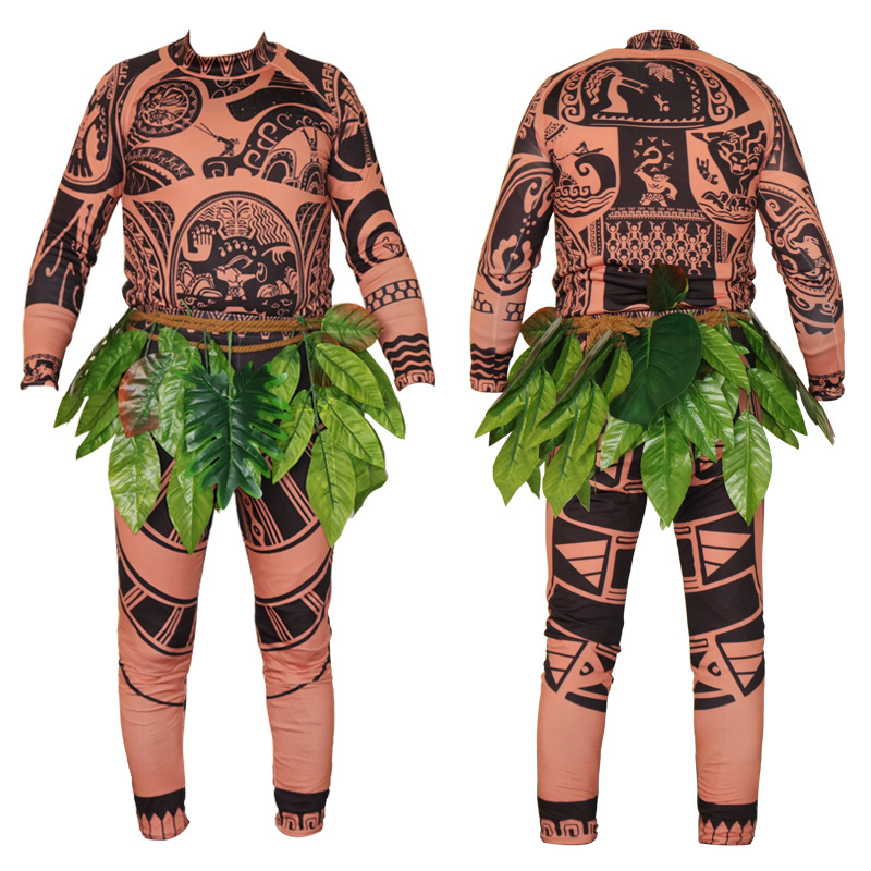 Movie Moana Maui Cosplay Costume Full Sets vaiana Maui ...