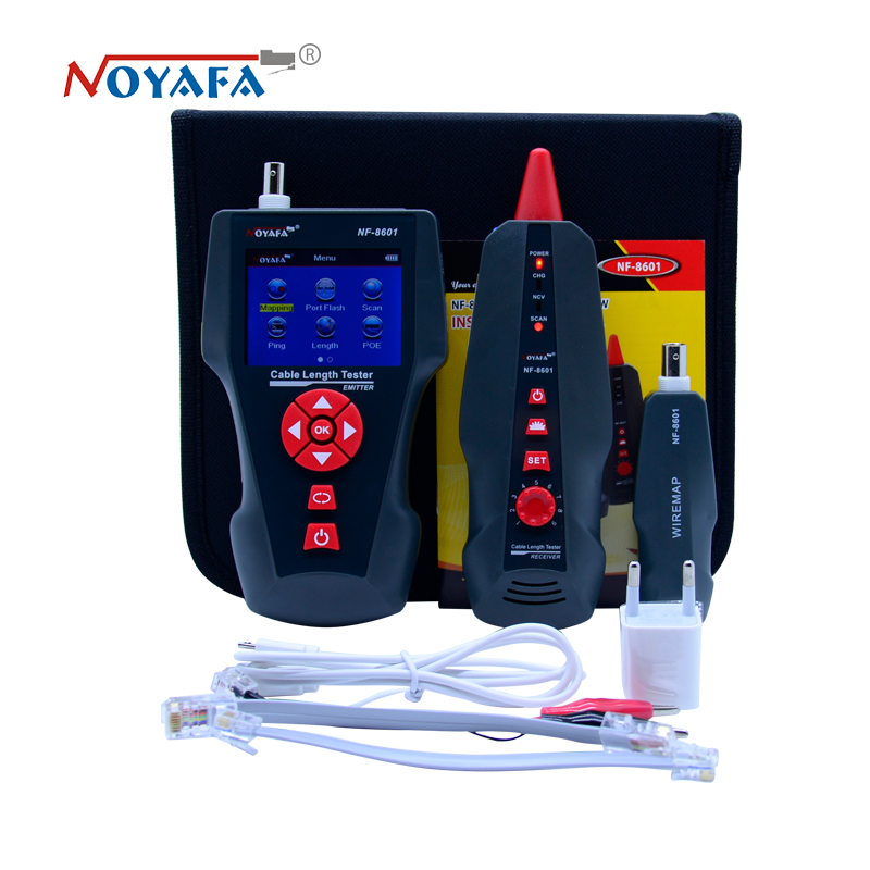 Image 5 - New NF 8601 Multi functional Network Cable Tester LCD Cable length Tester Breakpoint Tester English version NF_8601-in Networking Tools from Computer & Office