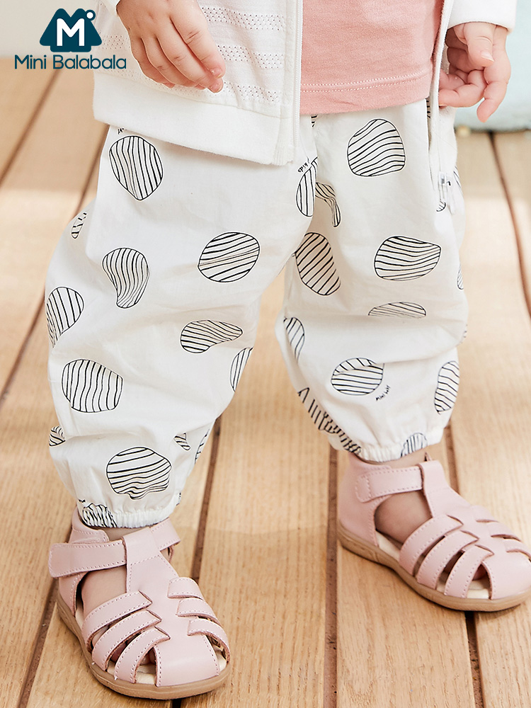 Mini balabala Baby pants 2019 summer new baby girls and boys lantern pants children infant loose trousers