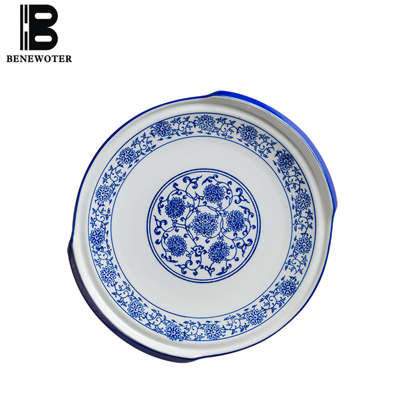 New Creative Blue and White Porcelain Tableware Ceramic Dinner Plate Steak Spaghetti Round Rectangle Dish Pastry Breakfast Plate