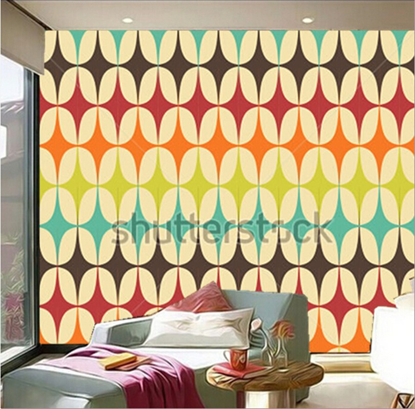 The custom 3D murals,abstract Retro Geometric pattern with triangles papel de parede,living room sofa TV wall bedroom wall paper large mural papel de parede european nostalgia abstract flower and bird wallpaper living room sofa tv wall bedroom 3d wallpaper