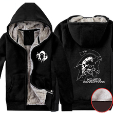 Mens Casual 2016 Hideo Kojima Kojima Productions Logo Super Warm Winter Fleece Zip up Hoodies Sweatshirts
