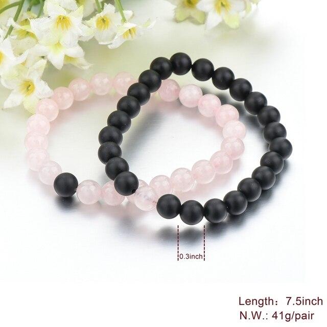 Купить toucheart 8 мм романтические натуральные розовые и черные каменные картинки