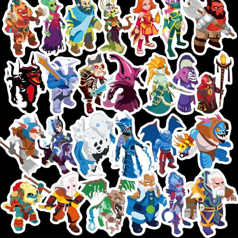 50 unids/lote Dota pegatinas de dibujos animados niños juguete Anime pegatina de graffiti Scrapbooking Moto maleta guitarra impermeable pegatinas de Skateboard