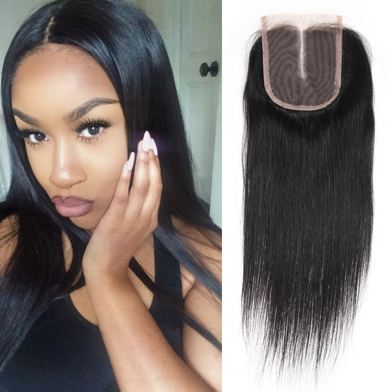 ФОТО Free/Middle/Three/3 Part Brazilian Virgin hair Straight Lace Closure Human Hair Lace Closure 4*4inch Top Brazilian Straight Hair
