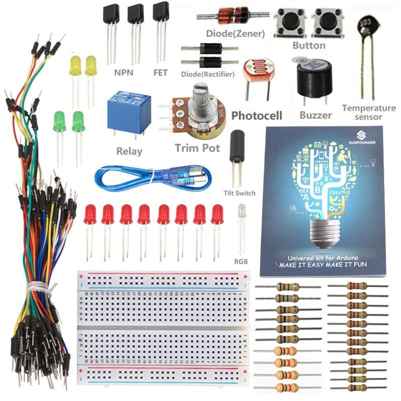 Universal Starter Kit for Arduino UNO R3 Mega2560 Mega328 Nano Not Inclueded UNO R3 Control Board