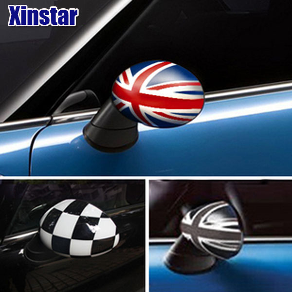 2pcs KK Car Rearview Mirror Sticker For Bmw MINI COOPER CLUBMAN COUNTRYMAN PEACEMAN R55 R56 R57 R58 R59 R60 F56 F54 F55 F57 F60