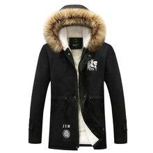 New Fashion Hood Fleece Warm Casual Slim Fit Men Winter Jacket Coat Lovers Parka Outwear (Asian Size)