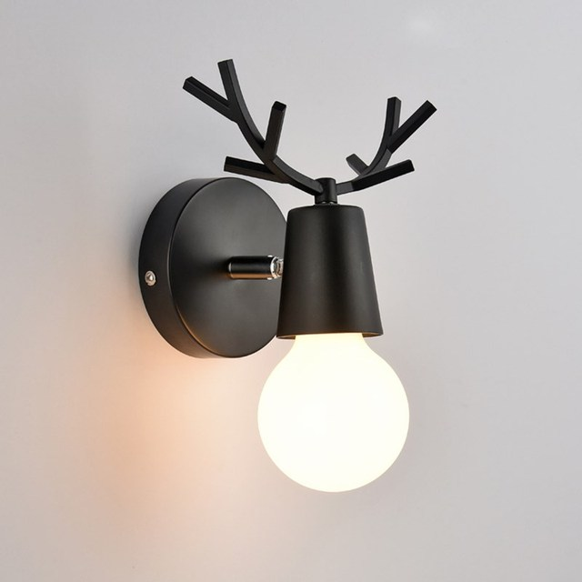 Modern Wall Lamp Led Lights Bedroom Dear Sconce Kids Children Baby Room Light Fixtures Home Lighting
