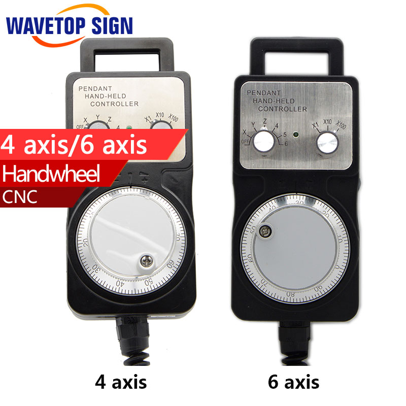 5v12v24v Best price 4 Axis 6axis Pendant Handwheel manual pulse generator MPG for Siemens, MITSUBISHI, FANUC etc