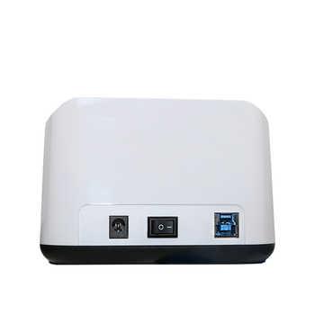 "USB hdd enclosure SSD case 2-Bay SATA hdd docking station 3.5\"" 2.5\"" USB3.0 dual bay hdd ssd clone duplicator dock station"
