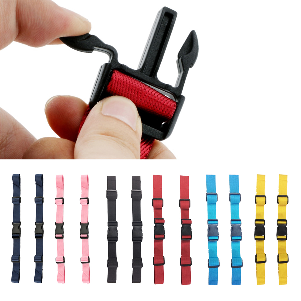 2 Pcs Universal Nylon Backpack Webbing Chest Harness Belts Waist Strap Buckle Gear Clips for Camping Hiking Climbing Accessory