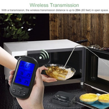 Wireless Digital BBQ Kitchen Thermometer with Probe Oven Food Cooking Grill Smoker Meat Thermometer Timer Temperature Alarm digital rf wireless food meat thermometer upgrade double probes temperature timer alarm oven bbq grill kitchen thermometer